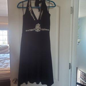 WHBM white house black market black halter dress
